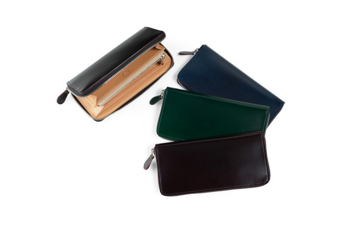 ◆再入荷◆コードバン ラウンドファスナー長財布