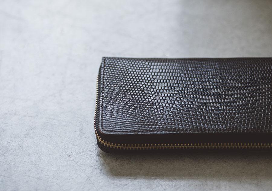 リザード長財布1
