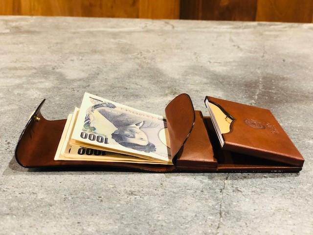 GANZO本店限定ミニマムウォレットのカードポケットの写真
